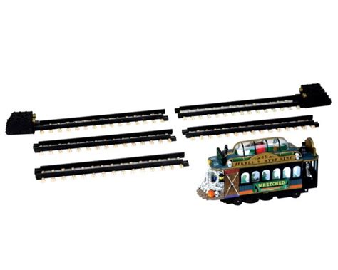 lemax spooky town spookytown trolley set of 6 battery