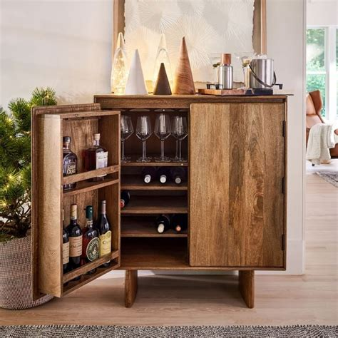 anton solid wood bar   small space furniture
