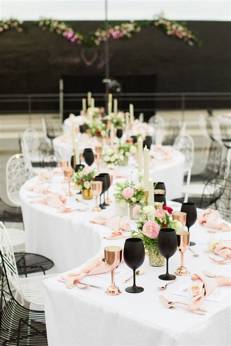A Chic Black and Pink Wedding in Cabo Pink black