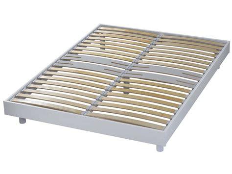cadre 224 lattes 160x200 cm newsomkit coloris blanc vente de sommier et cadre 224 lattes conforama
