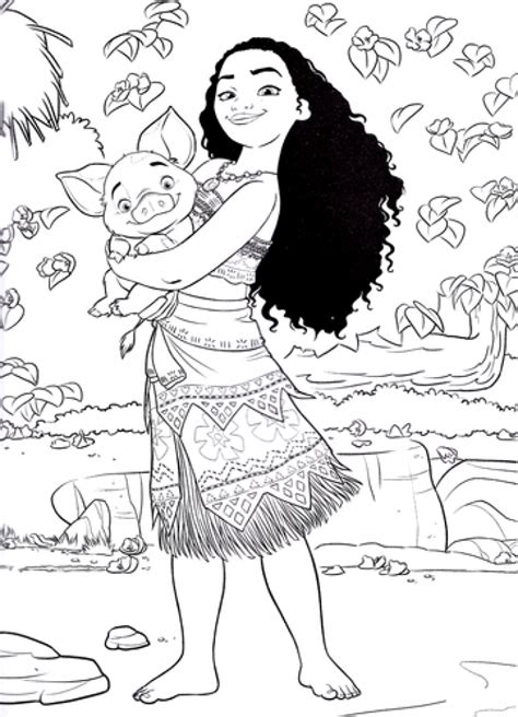 printable disney moana coloring pages ahk