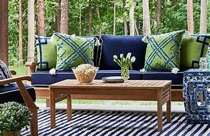 Patio Furniture With Blue Cushions Roselawnlutheran
