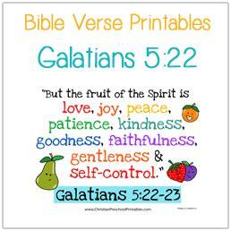 preschool bible verse printables christian preschool 338 | VVGalatians522