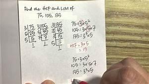 Hcf And Lcm - Using Index Notation Method