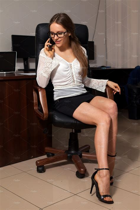 secretary sits   chair high quality business images