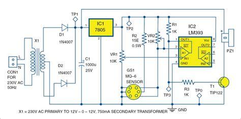Lpg Leakage Detector Leak Circuit With Full