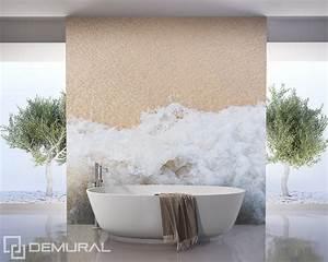 Papier Peint Pour Salle De Bain : brise de mer papier peint pour la salle de bain ~ Dailycaller-alerts.com Idées de Décoration