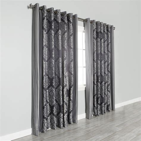 Best Curtain Panels by Best Home Fashion Inc Wide Width Damask Jacquard Grommet