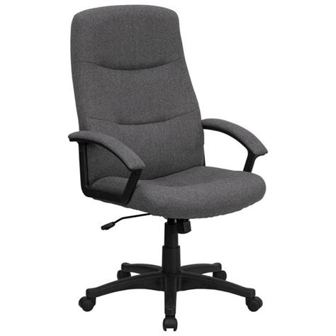high back swivel office chair in gray bt 134a gy gg