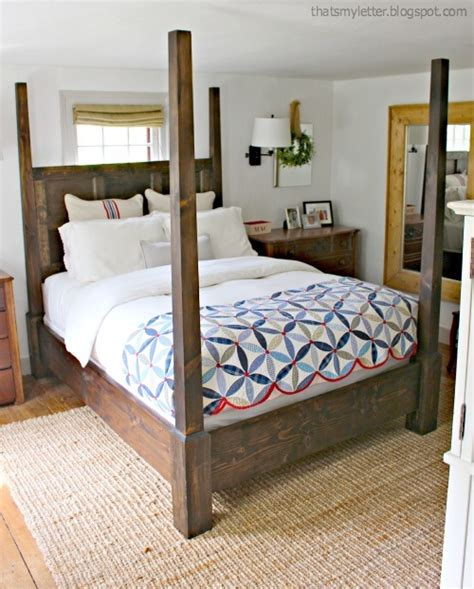 dawsen canopy  poster bed queen ana white