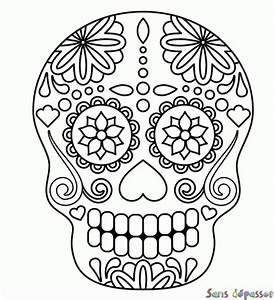 Crane Mexicain Dessin : coloriage squelette mexicain sans d passer ~ Melissatoandfro.com Idées de Décoration