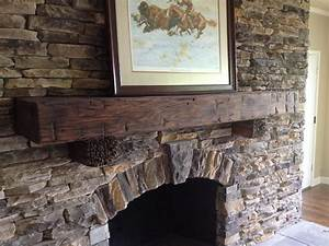 reclaimed barn wood mantelsbarn beam fireplace mantels With barn board mantel