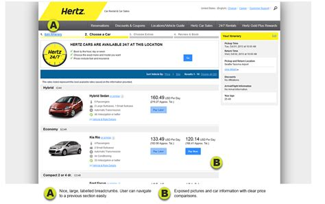 Hertz Standard Car Types
