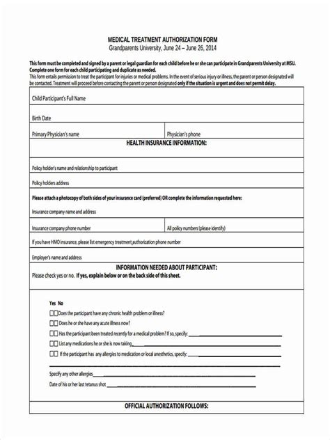 sle medical consent form for grandparents 33 consent form format