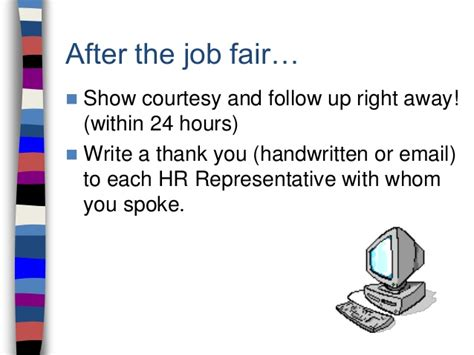 follow up cover letter after career fair studyclix web