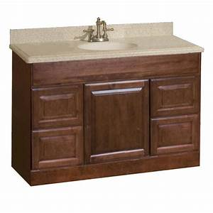 pace valencia series 48quot x 18quot vanity with drawers at menardsr With 48 x 18 bathroom vanity