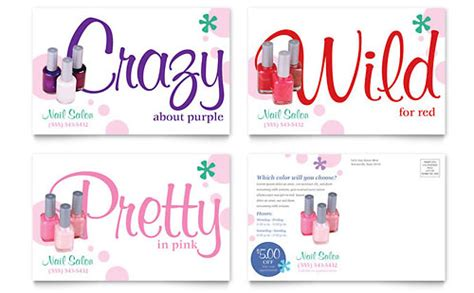 nail salon brochure template word publisher