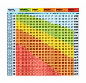 9 Sample Bmi Chart Templates To Download Sample Templates
