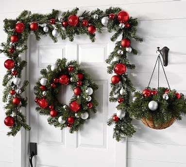 ornament pine home decor collection red silver