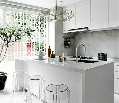 cuisine minimaliste design l ilot central le cœur de la cuisine