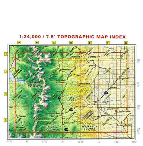 Boulder County Search Boulder County Trails Recreation Topo Map Latitude 40 176 Maps