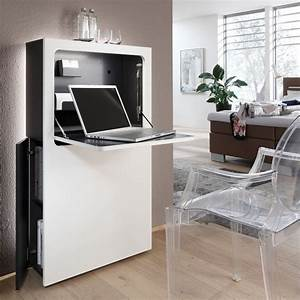 Pc Schrank Weiß : der moderne und schmale sekret r in wei oder schwarz ist der ideal schreibtisch er kann im ~ Frokenaadalensverden.com Haus und Dekorationen