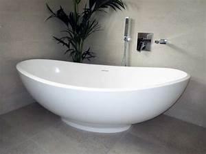Freistehende Badewanne Mineralguss : freistehende badewanne vicenza aus mineralguss wei matt ~ Michelbontemps.com Haus und Dekorationen