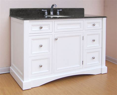 48 vanity with top and sink 48 inch single sink bathroom vanity with white finish and