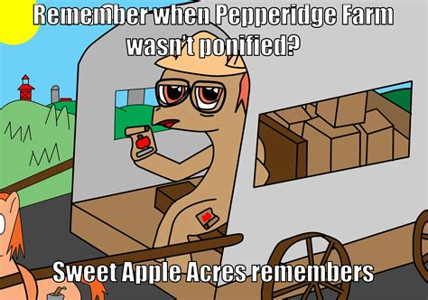 sweet apple acres remembers pepperidge farm remembers know your meme