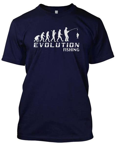 evolution fishing t shirt mens unisex gift angler tackle float ebay