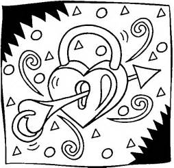 Hearts and Stars Coloring Pages