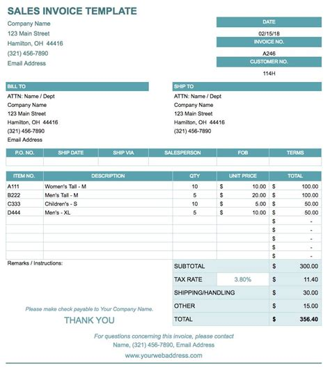 sheets invoice template free docs invoice templates smartsheet