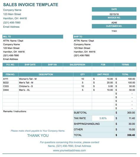 google docs invoice templates smartsheet