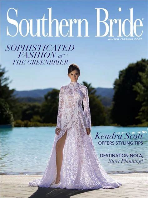 wedding magazine  winter spring  southern bride