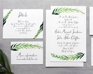 printable diy wedding invitation handpainted watercolor With diy wedding invitations by hand