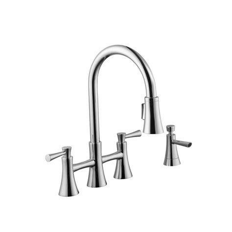 2 handle pull kitchen faucet schon 925 series 2 handle pull down sprayer kitchen faucet with soap dispenser in chrome 67065