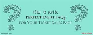 Who S Perfect Sale : event faqs for your ticket sales page will save you time ~ Watch28wear.com Haus und Dekorationen
