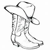 Cowboy Coloring Hat Pages Printable Boots Cowgirl Cowboys Dallas Cattle Boot Silhouette Osu Western Drive Clip Getdrawings Getcolorings Stars Gun sketch template