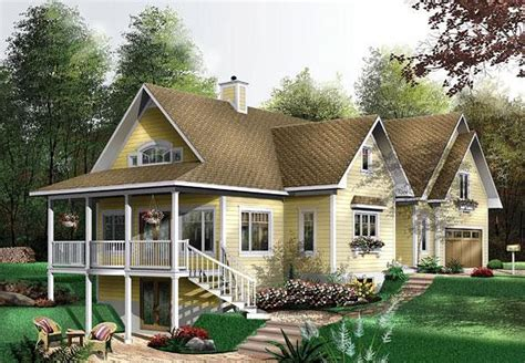 House Plan chp 25202 Country style house plans Cottage