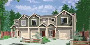house plans for narrow lots narrow lot duplex house plans narrow and zero lot line