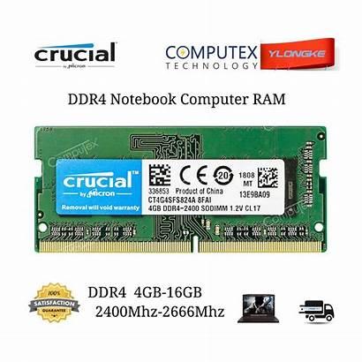 Ddr4 Crucial Ram Laptop 2666mhz 4gb 8gb