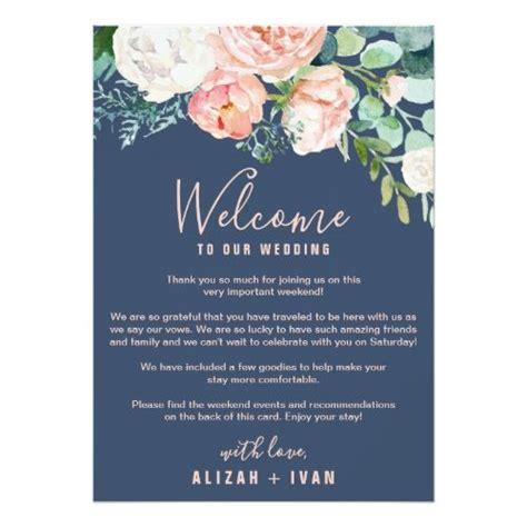 romantic peonies blue  letter itinerary program