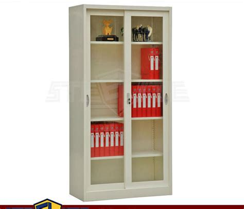 metal bookcase with doors self assembly home furniture white bookcase with glass