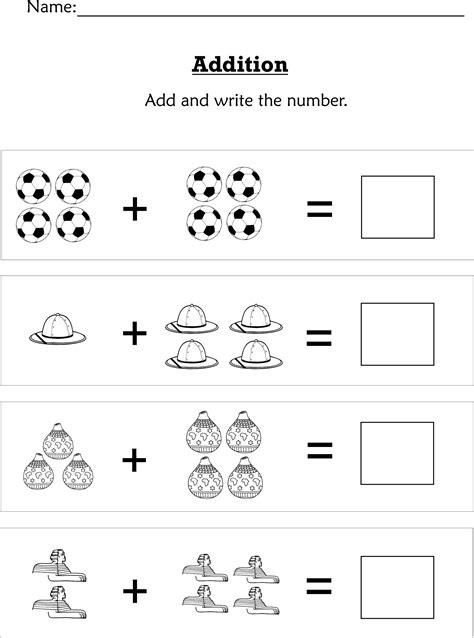 simple addition  preschoolers  early kindergartners