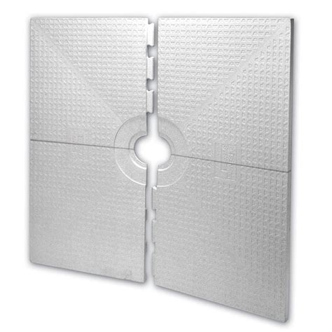 kerdi shower tray shop schluter systems kerdi white styrene shower tray at lowes com