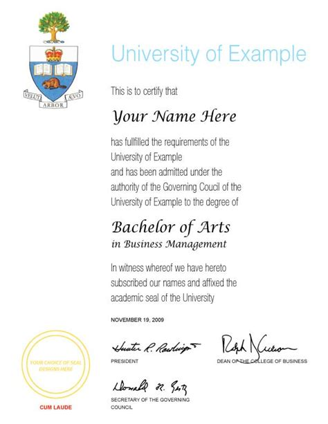 honorary degree template