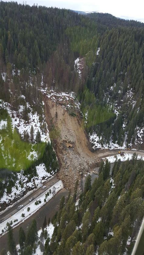 scary mudslide caught  tape  idaho  highway