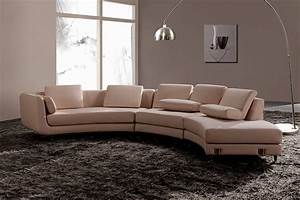 White italian leather round sectional sofa s3net for Round sectional sofa set manufacturers