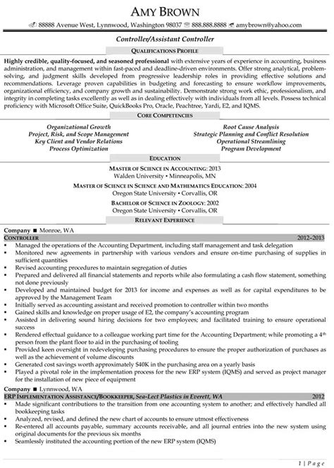 controller resume exles 62 images resume sales