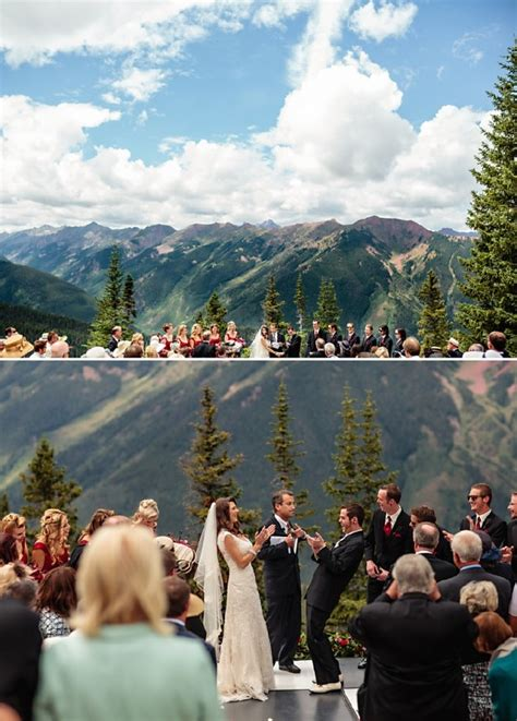 Atop Aspen Mountain Colorado Wedding Hoteljerome